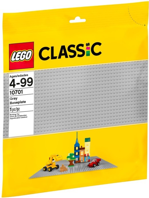 LEGO 10701 BASEPLATE GRAY BRICKS & MORE CLASSIC