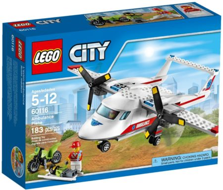 LEGO 60116 AMBULANCE PLANE CITY