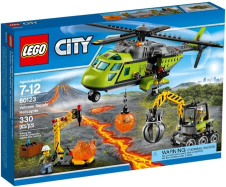 LEGO 60123 VOLCANO SUPPLY HELICOPTER CITY