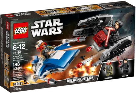 LEGO 75196 A WING VS TIE SILENCER MICROFIGHTERS STAR WARS