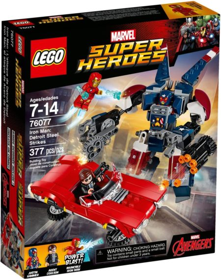LEGO 76077 IRON MAN:DETROIT STEEL STRIKES MARVEL SUPER HEROES
